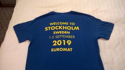 EUROMAT 2019 T-shirt