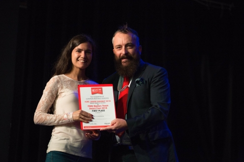 """""""The Digital Microfluidics Platform for Loop-Mediated Isothermal Amplification of DNA"""" by Beatriz Coelho, was the winning thesis of the FEMS Masters Thesis Awards competition recently held in Budapest"""